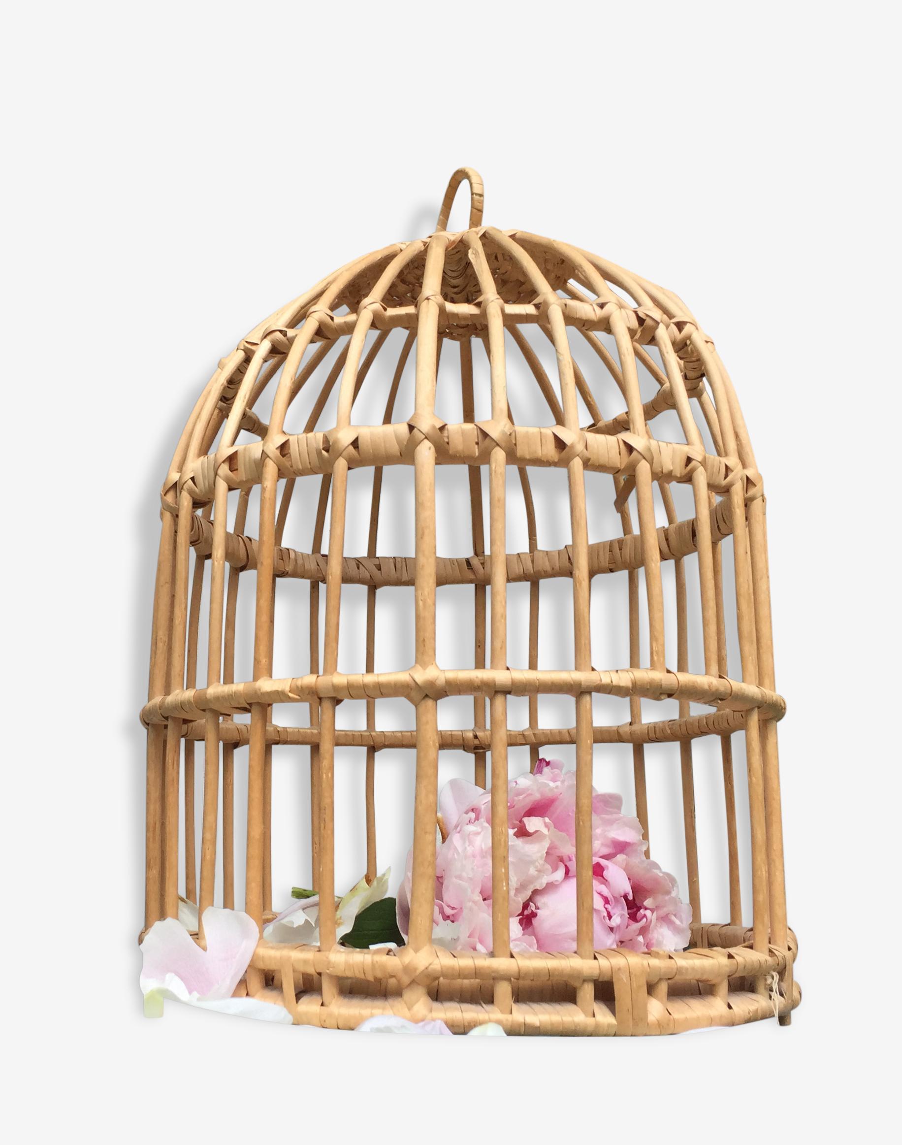 Cage déco en osier