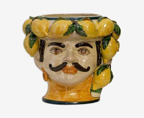 Vase citron petit homme