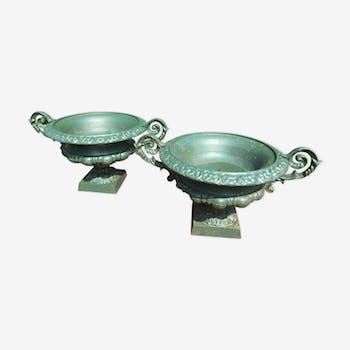 Pair of cast iron sinks