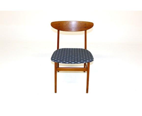 Set de 4 chaises en teck et en hêtre, Danemark, 1960
