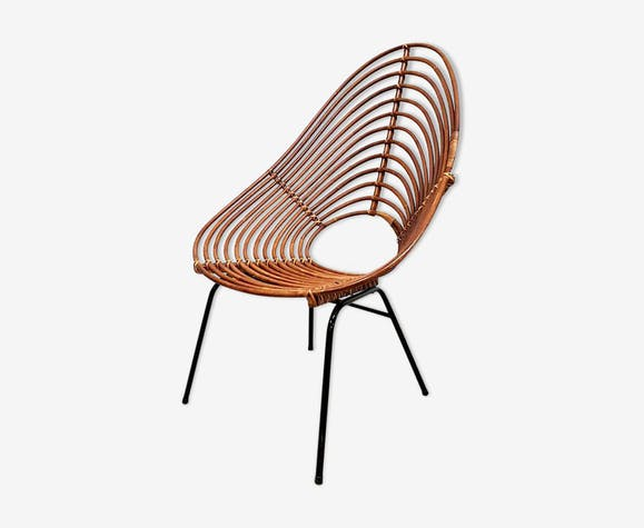 Fauteuil en bambou design hollandais par Rohe Noordwolde