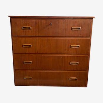 Swedish vintage teak Karlit chest of drawers