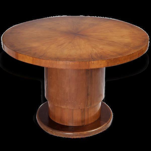 Table ronde de salon modulable Art Déco