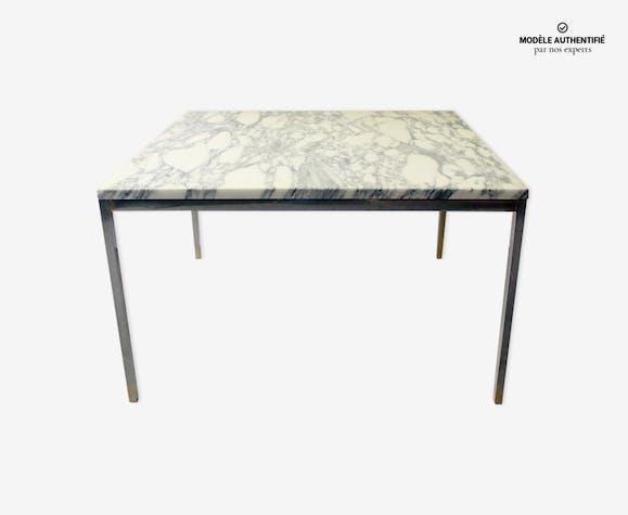 table basse en marbre de carrare de florence knoll. Black Bedroom Furniture Sets. Home Design Ideas