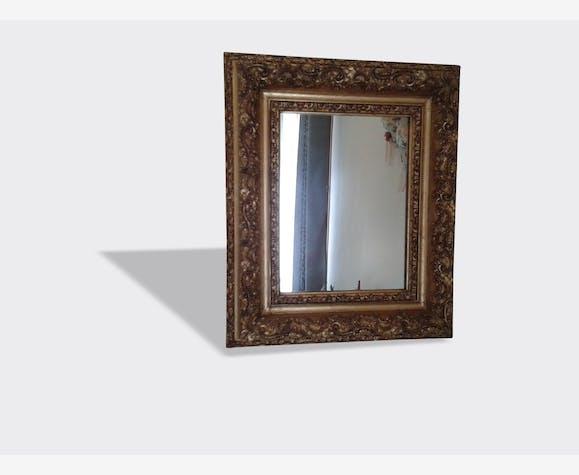 Très beau miroir ancien, cadre stuc doré - bois (Matériau) - doré ...