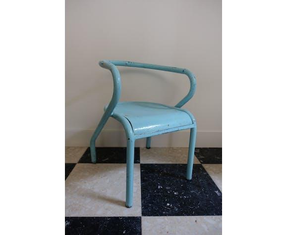Chaise enfant indus bleu