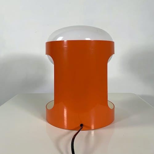 Lampe de Table KD29 orange par Joe Colombo pour Kartell, 1970