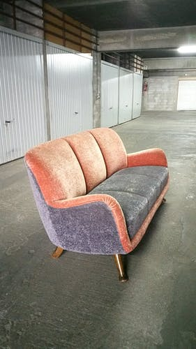Bi-color 50-60 years in its own juice club sofa style Royère