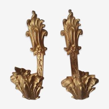 Paire d'embrasses anciennes en bronze