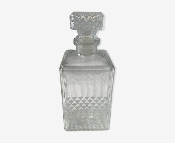 Carafe à whisky en verre moulé 1960-1970