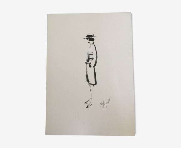 Illustration de mode Coco Chanel