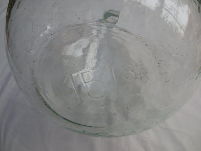Demijohn transparent