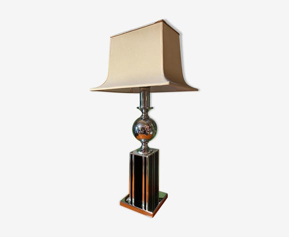 Lampe a poser 1970 vintage chrome space age modernism light