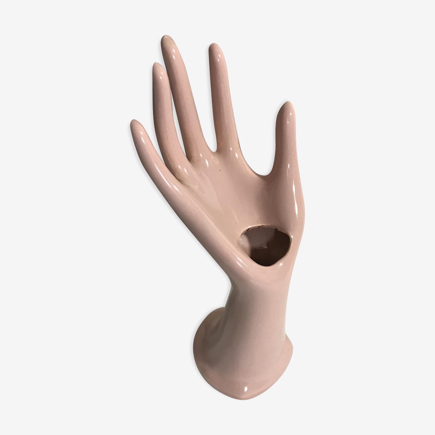 Ancienne main céramique rose
