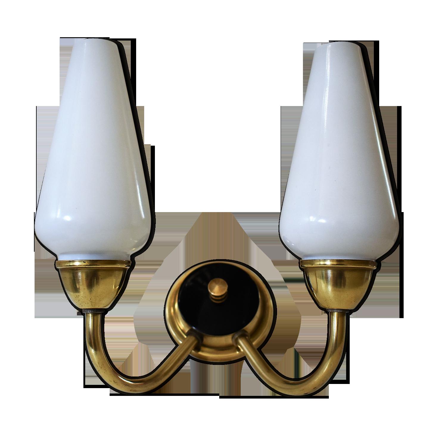 Applique vintage lampes laiton blanc vintage cdampcr