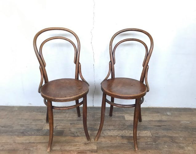Paire de chaise bistrot numéro 14 Fischel