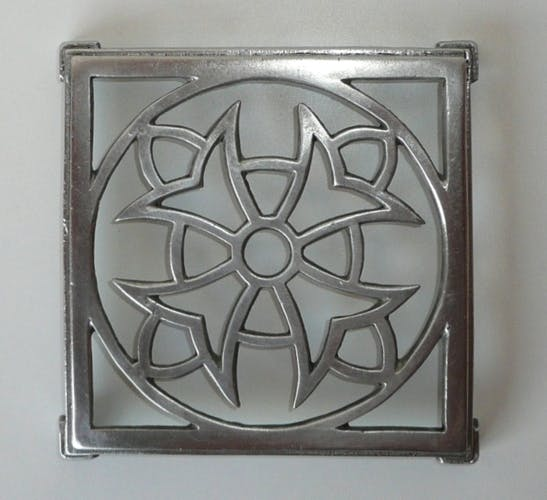 Aluminium art deco table mat