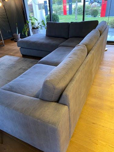 Canapé d'angle avec Ottoman (à 5 places)