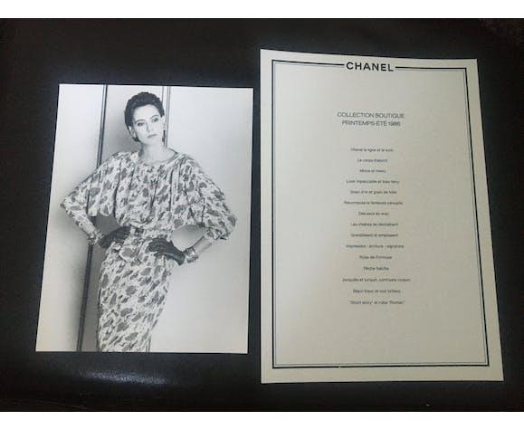 Photographie originale de mode de presse vintage Chanel, 1986, Inès de la Fressange