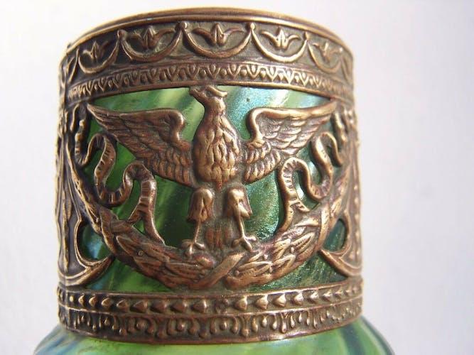 Vase en verre irisé 21cm Loetz fin XIX art nouveau glass solznay kralik