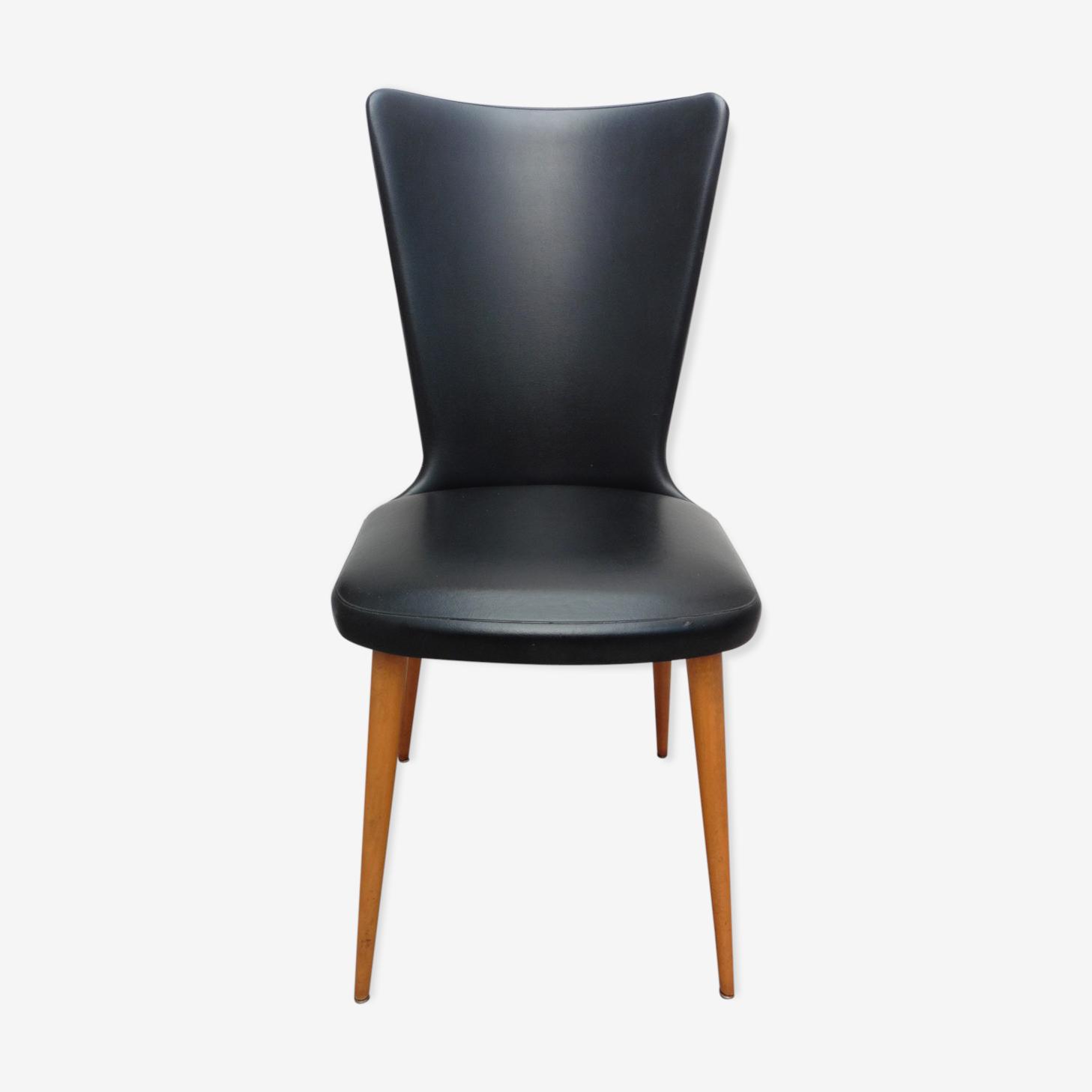 Chair black leatherette