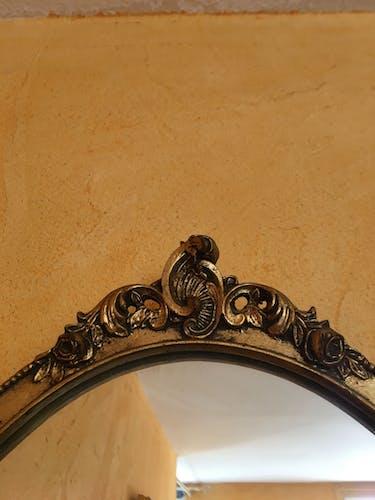 Miroir baroque doré H 68 x 45L