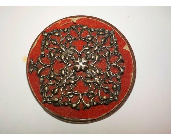 Miroir de poche ancien rond