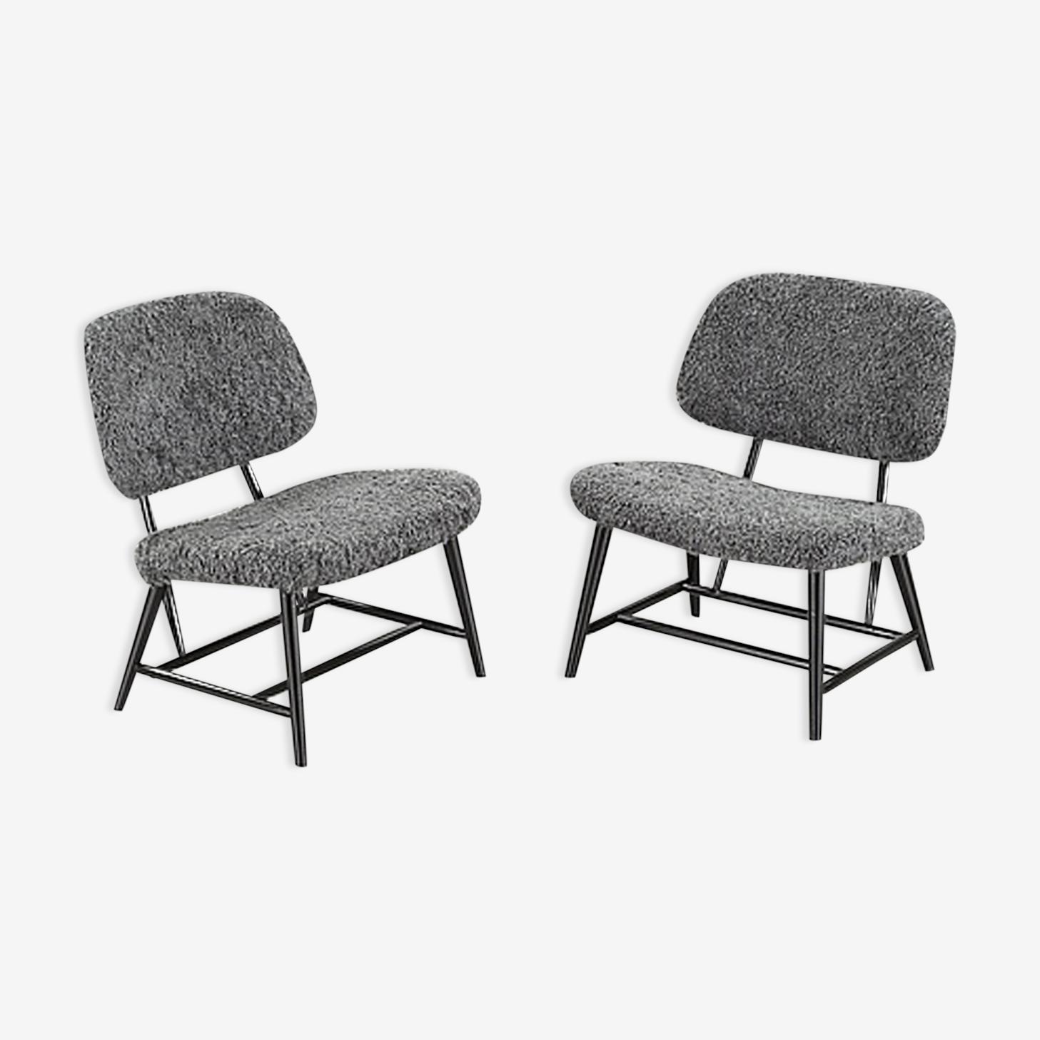 "Pair of ""Teve-Chairs"" of Alf Svensson"