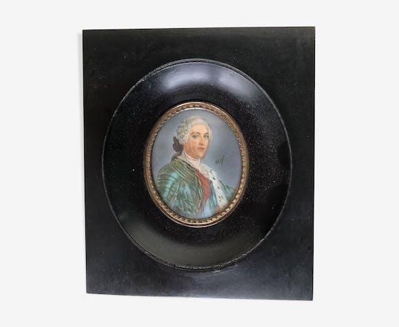 Miniature Napoléon III sur ivoire