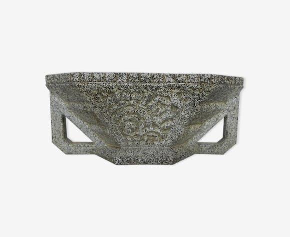 Vasque de jardin Art déco en fonte émaillée - fonte - gris ...