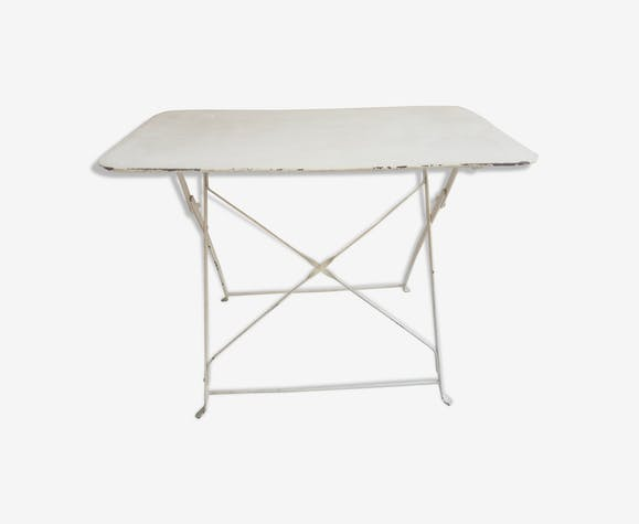 Table vintage de jardin en métal