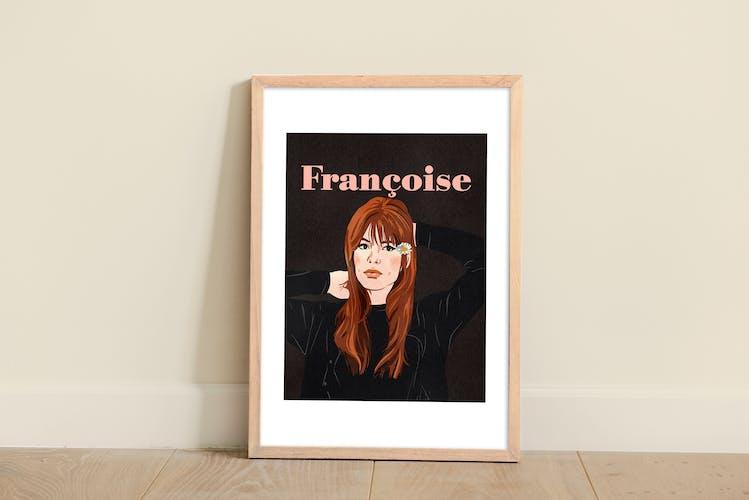 Françoise Hardy illustration A3