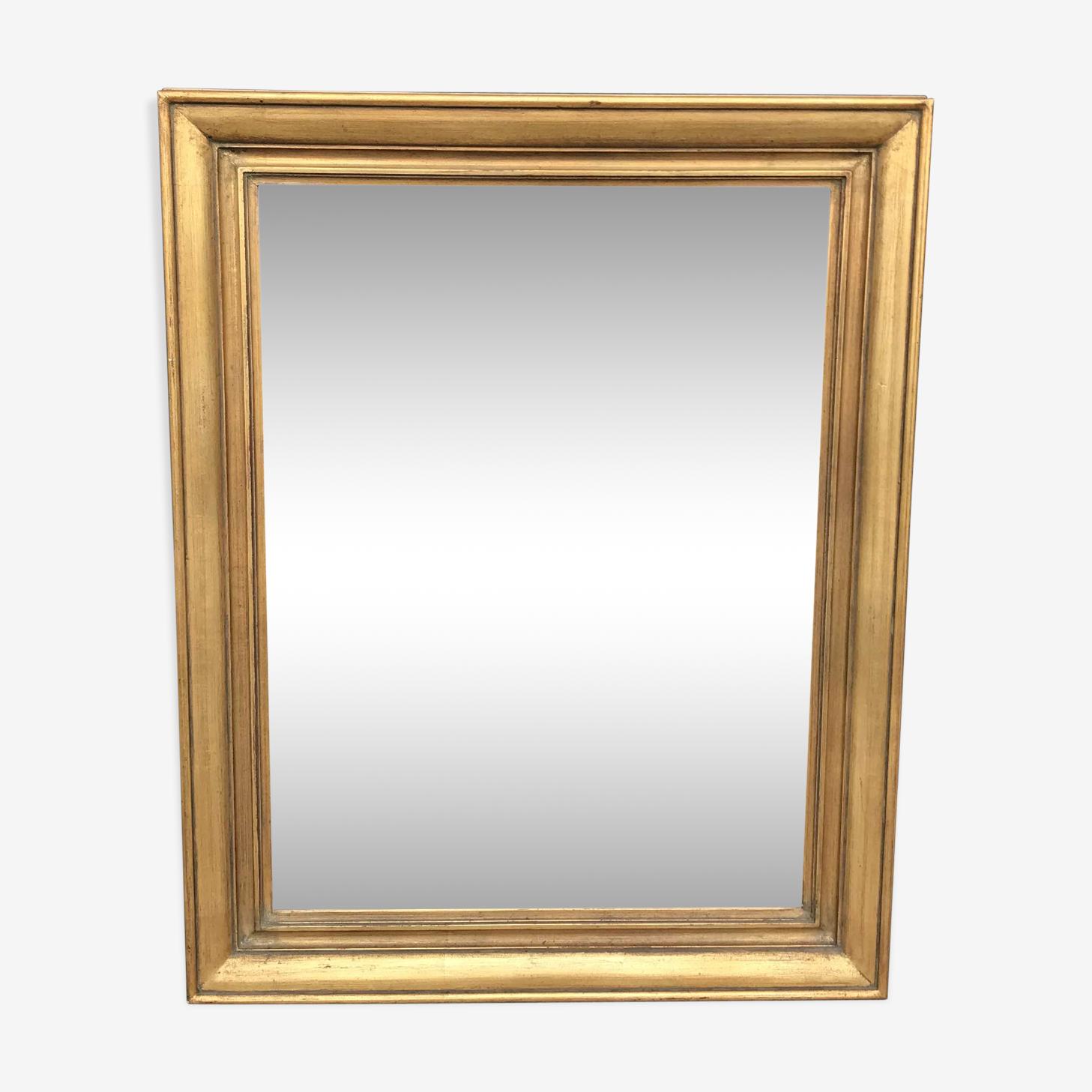 Miroir ancien doré 77cm x 61cm