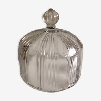 Art deco glass for cakes Bell