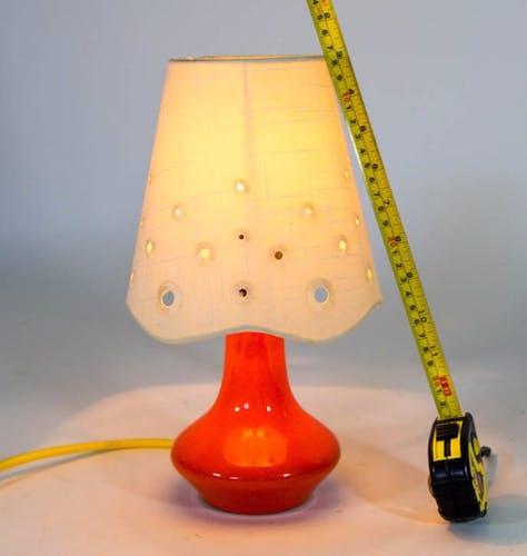 Lampe de table en céramique des années 70