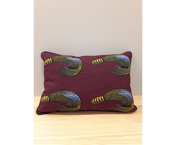 100% real wax cushion cover 65x40cm