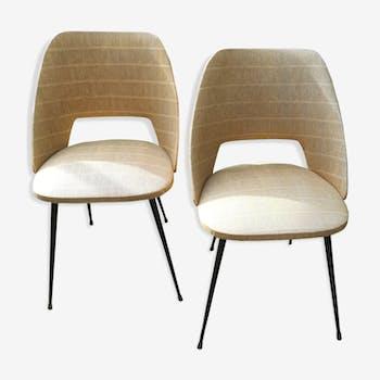 Paire de fauteuils Colette Gueden années 1960