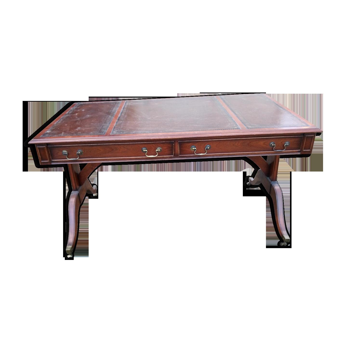 Bureau anglais bois matériau bois couleur classique
