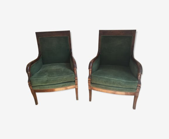 Pair of period armchairs