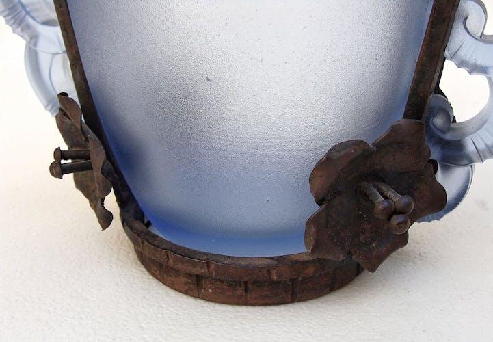Vase 1930 à monture en métal