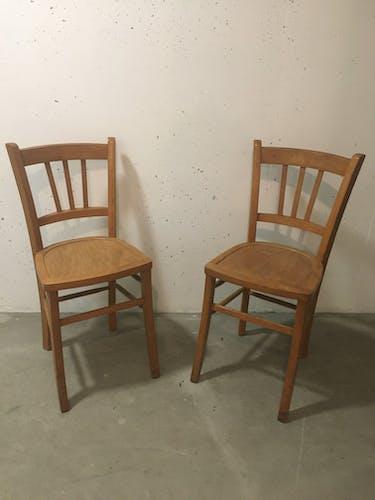 Paire de chaises bistrot, Luterma , circa 1950