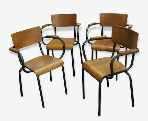 Fauteuil de maitre d 39 cole instituteur des ann es 50 industriels m tal bois couleur - Cours de restauration de fauteuil ...