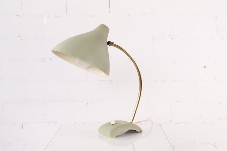 Brass and shrink paint table lamp from the 1950s