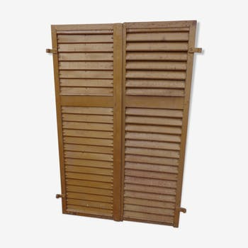 Pair of metal shutters