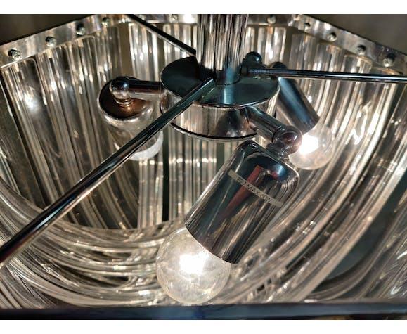Lustre par Carlo Nason pour Crystal Triedri