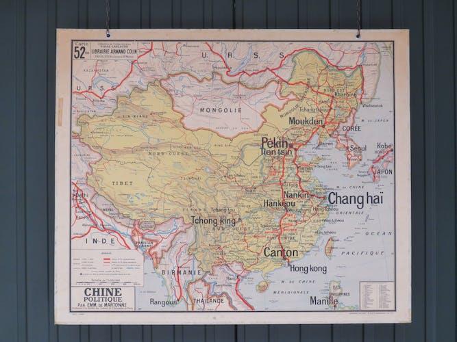 Carte scolaire ancienne de la Chine n°52 - Vidal Lablache
