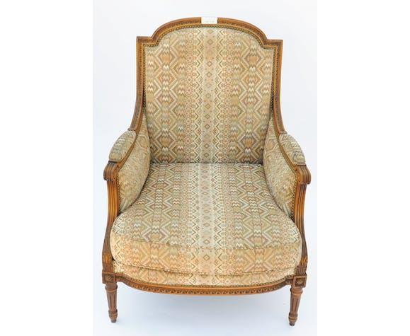 Fauteuil bergère de style Louis XVI