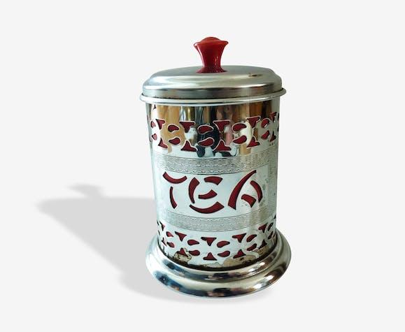 Boîte à thé en métal ajouré