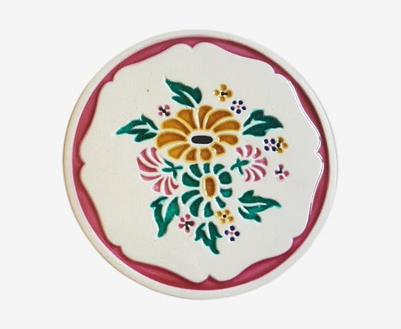 Pie platter, country earthenware cake