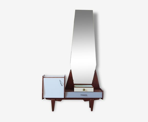 meuble d 39 entr e vintage avec miroir bois mat riau. Black Bedroom Furniture Sets. Home Design Ideas